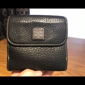 Dooney & Bourke Black Pebble Leather Bifold Wallet